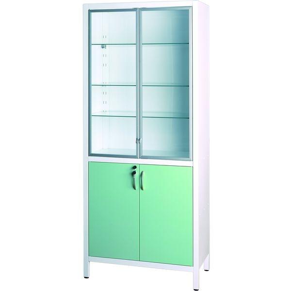 шкаф шм 2302 двухстворчатый стекло металл центральная